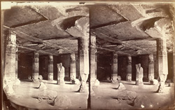 Interior of Buddhist vihara, Cave VI, Ajanta 2067